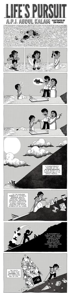 Zen Pencils, a webcomic by Australian artist Gavin Aung Than, adapts history's most inspiring quotes into comic strips. Earlier today, he uploaded this beautiful illustration of an Abdul Kalam quote.