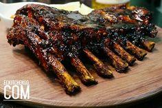 s rib recipe (balinese style bbq pork ribs) . Pork Rib Recipes, Pulled Pork Recipes, Barbecue Recipes, Grilling Recipes, Smoker Recipes, Pork Brisket, Bbq Pork Ribs, Balinese Recipe, Pork Ribs Grilled