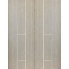 The Nuance Viridis Cream Flush Fire Door Pair incorporating light coloured feature grooves is pure luxury, these doors have a solid core and delivery is free ANYWHERE MAINLAND UK! #viridiscreamdoor #nuancedoor #qualitydoor