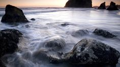 Olympic National ParkMountains, glaciers, pristine rivers -- they're all here. As the longest undeveloped coast in the contiguous US, this geological wonder in Washington State has many star attractions -- including Ruby Beach, with its foggy shoreline.