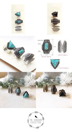Our Boho 3 Piece Ring Set is a statement making Ring Set that features bohemian design with turquoise or black stone accents. Hipster Jewelry, Geek Jewelry, Gothic Jewelry, Body Jewelry, Jewelry Accessories, Women Jewelry, Pendant Jewelry, Jewelry Necklaces, Pendant Necklace
