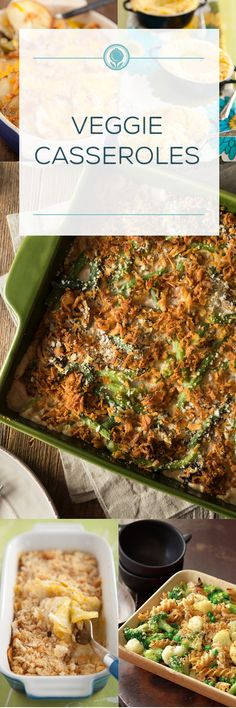 These comforting casserole dishes are chock-full of veggies. Veggie Casserole, Casserole Dishes, Thanksgiving Sides, Family Kitchen, Paula Deen, Meals For The Week, Casseroles, Yummy Treats, Holiday Recipes