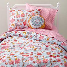 Blanket stitch floral cushion