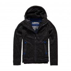 Superdry Storm Double Zip vest heren gritty black @superdry. #superdry