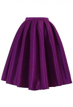 Purple A-line Midi Skirt...wonder if they make this for petites too...