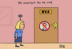 Cartoon 27/04: die ochtend bij de N-VA