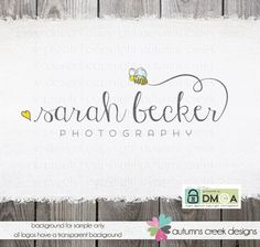 Photography Logo Premade heart bee logo / by autumnscreek
