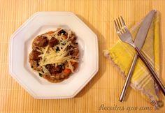 Risoto de carne com cenoura