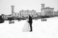 Osborne House in the Snow by Chris Cowley Isle of Wight Wedding Photographer