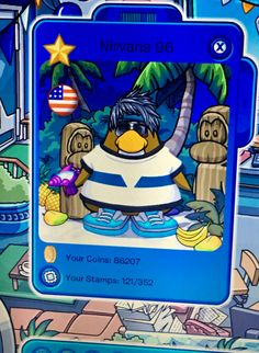 This was my Club Penguin account. The name inspired by my favorite band (obviously) and the outfit inspired by Scarface and GTA Vice City lol