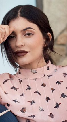 Who made  Kylie Jenner's pink butterfly print top?