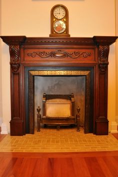 antique fireplace mantels | French, hand-carved wood fireplace ...