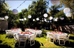 Backyard Decorating for Party Ideas