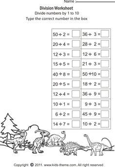 Fun division - 4 worksheets | Printable Worksheets | Pinterest ...