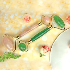 Natural Crystals, Stones And Crystals, Stone Massage, Massage Roller, Facial Massage, Green Aventurine, Jewelries, Crystal Jewelry, Reiki