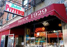 """John's of Bleecker St.: """"Casual atmosphere, great pizza. No slices, though."""" --Anderson"""