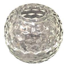 Vintage Fostoria Clear Candle Holder - For Myrna (her mother's pattern). Fostoria Glassware, Vintage Glassware, Vintage Pyrex, Vintage Candle Holders, Glass Candle Holders, Antique Dishes, Antique Glass, Fostoria American, Fairy Lamp