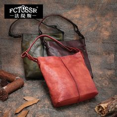 143.20$  Watch here - http://ali4cz.worldwells.pw/go.php?t=32750404920 - 2017 Autumn Genuine Leather Women Handbag Shoulder Bag Totes Vintage Style Three color