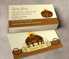 Creative Cake Business Card This great business card design is available for customization. All text style, colors, sizes can be modified to fit your needs. Just click the image to learn more! | bizcardstudio.co.uk