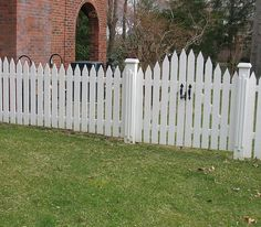 White Cedar Wooden Picket Fence & Arched Picket Gate by Elyria Fence Picket Fence Gate, Wood Fence Gates, Fence Gate Design, Wooden Gates, White Picket Fence, Cedar Fence, Wooden Fences, Fencing, Gate Pictures