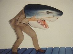 Creative Photography, Qualitypeoples, Photo, and Shark image ideas & inspiration on Designspiration Animal Masks, Animal Heads, Animal Logic, Narrativa Digital, Shark Images, Shark Head, Portraits, Wild Nature, Collage Art