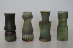 Lore ceramics Beesel the Netherlands 1976-1981 Matt Camps B.13 - B.14 - B.15 - B.16