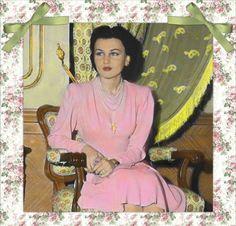 صورة ملونة للاميرة فوزية عام 1945 في ايران
