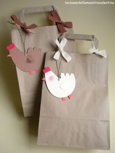 Idea para empaquetar regalos - Idea for packing gifts Decor Crafts, Diy And Crafts, Crafts For Kids, Creative Gift Wrapping, Creative Gifts, Chicken Crafts, Easter Activities, Zentangle Patterns, Easter Crafts