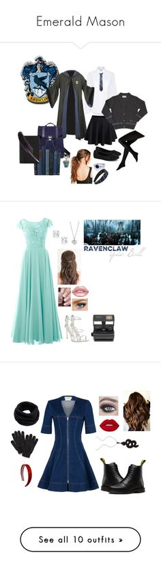 """Emerald Mason"" by gladers4ever on Polyvore featuring Public School, Jellypop, WithChic, Proenza Schouler, Boohoo, Smythson, Warner Bros., Giuseppe Zanotti, Finn and Lime Crime"
