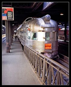 California Zephyr in Chicago's Union Station, 1969 - final destination San Francisco