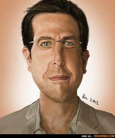 Caricatura de Ed Helms.