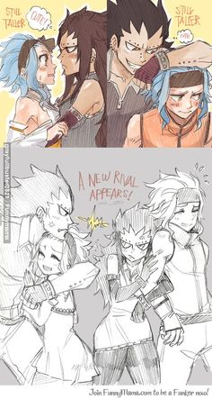 Fairy Tail Next Generation. Luna Dragneel and Storm Fullbuster. I feel a ship coming on. StorNa maybe? Fairy Tail Levy, Fairy Tail Ships, Rog Fairy Tail, Fairy Tail Amour, Fairy Tail Funny, Fairy Tail Art, Fairy Tail Guild, Couples Fairy Tail, Fairy Tail Family