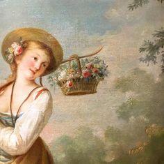 Jean-Baptiste Huet - The Flower Girl (detail)