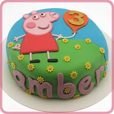 Image result for peppa pig cake                                                                                                                                                      More