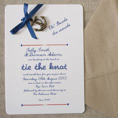 nautical diy wedding invitation pack by wedding in a teacup | notonthehighstreet.com