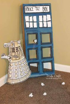 Doctor Who Party Week: GAMES! Adipose baby Tardis Toss!  Pin the face on Cassandra and more!