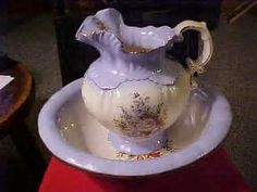 Image result for Antique Wash Bowl And Pitcher