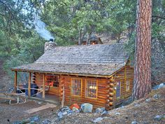 Log Cabin vacation rental in Pine Mountain Club, 90 miles north of Los Angeles.