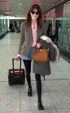Fresh Start - Week of January 7, 2013 WHO: Alexa Chung  WHAT: A.P.C. shirt, Aquascutum blazer, Marni bag, Louis Vuitton suitcase, and Church's shoes  WHERE: Heathrow Airport  WHEN: December 21, 2012