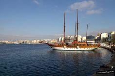 Velero en Sliema, en la Isla de Malta.