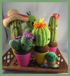 Cactus Amigurumi ganchillo gordas plántulas por FiloAndFimo en Etsy
