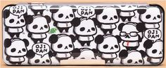 big panda bear turtle pencil case with 2 compartments