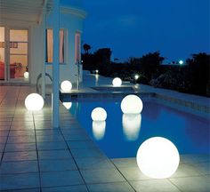 Add soft illumination to your outdoor spaces with the Moonlight Globe. These beautiful orbs add atmosphere and light to any garden, patio, pool deck or entertainment area, or can simply be used for contemporary decor. http://www.home-dzine.co.za/garden/garden-moonlight.htm