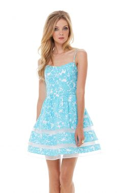 Ollie Dress in Shes A Fox, Shorely Blue