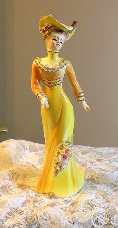 Porcelain Figurine Victorian Lady Figurine by RosePetalResources, $22.00