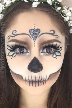 Best Sugar Skull Makeup Creations to Win Halloween ★ See more: http://glaminati.com/sugar-skull-makeup-creations/