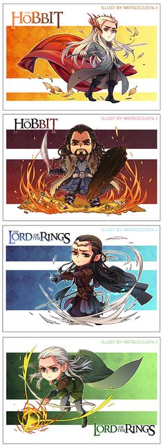 The Hobbit and Lord of the Rings chibis