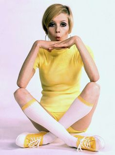 "Today, Twiggy remains a fashion icon with any slim young thing who sports short hair and liberal eye shadow inevitably pegged as ""Twiggy-like"" Photo essay from FORMIDABLE Magazine"