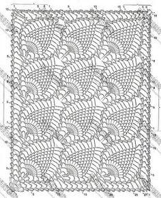 .pineapple crochet chart