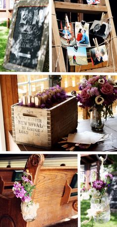 Be inspired by these rustically simple wedding details.